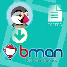 Export orders and clients from Prestashop to Bman
