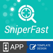 APP ecommerce SniperFast PRO template design