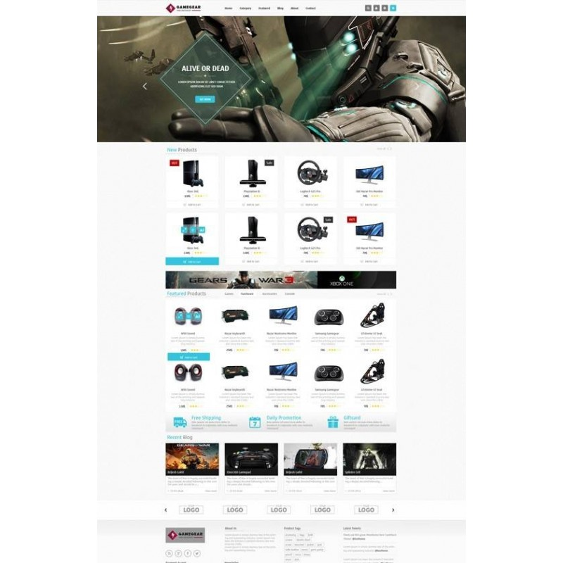 Leo Game Gear - Template Gratuito - Prestashop 1.6